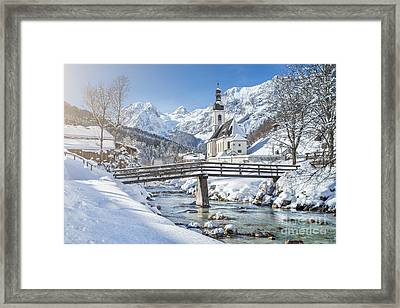 Ramsau In Winter Framed Print by JR Photography
