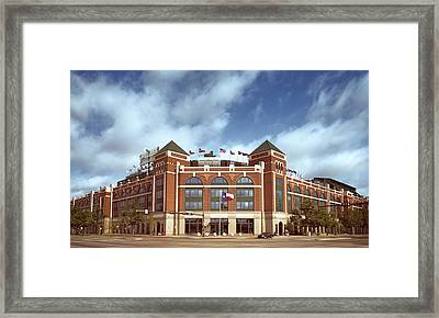 Rangers Ballpark In Arlington Framed Print by Joan Carroll
