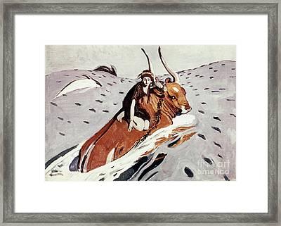 Rape Of Europa Framed Print by Granger