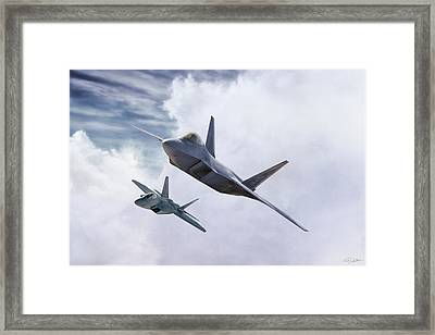 Raptor Element Framed Print by Peter Chilelli