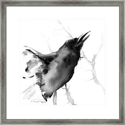 Raven Framed Print by Suren Nersisyan
