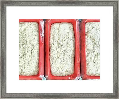 Raw Bread Dough Framed Print by Tom Gowanlock