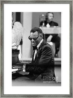 Ray Charles Framed Print by Terry O'Neill