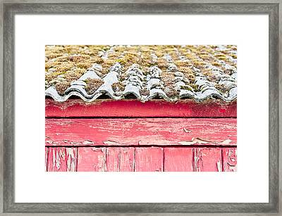 Red Cabin Framed Print by Tom Gowanlock