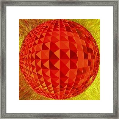 Red-globe Framed Print by Ramon Labusch