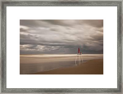 Red Framed Print by Massimo Della Latta