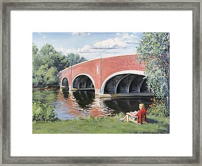 Red Of The Charles Framed Print by Steven A Simpson