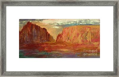 Red Sedona Framed Print by Julie Lueders