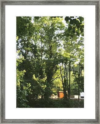 Red Shed Framed Print by James Reed