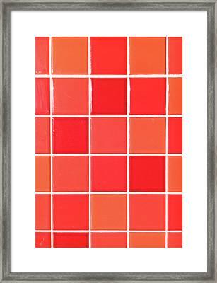 Red Tiles Framed Print by Tom Gowanlock