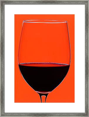 Red Wine Glass Framed Print by Frank Tschakert