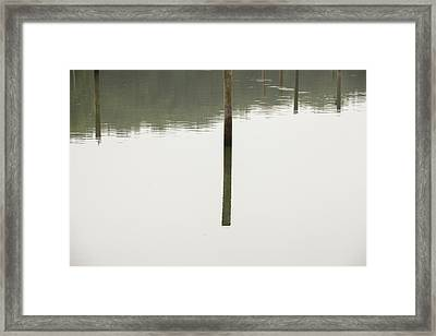 Reflecting Poles Framed Print by Karol Livote