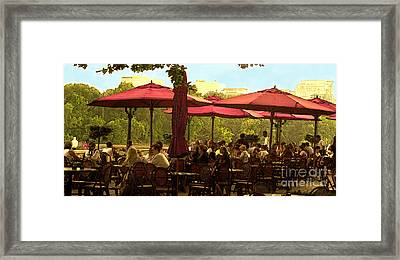 Restaurant In Georgetown Framed Print by Madeline Ellis