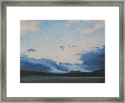 Resting Clouds  Framed Print by Francois Fournier