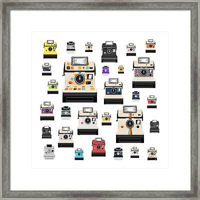 Retro Camera Framed Print by Setsiri Silapasuwanchai