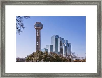 Reunion Tower Dallas II Framed Print by Joan Carroll