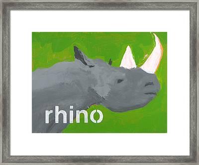 Rhinoceros Framed Print by Laurie Breen