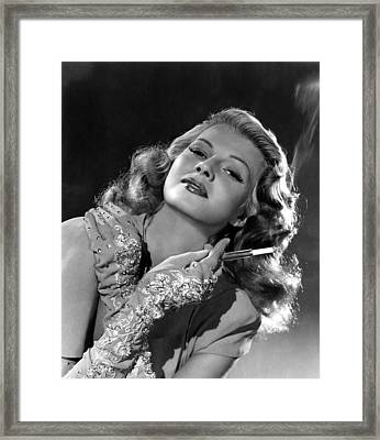 Rita Hayworth, Columbia Pictures, 1940s Framed Print by Everett