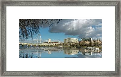River Thames London Framed Print by Adrian Evans