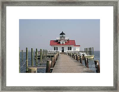 Roanoke Marshes Lighthouse Framed Print by Christiane Schulze Art And Photography