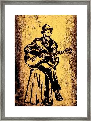 Robert Johnson Framed Print by Jeff DOttavio