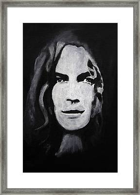 Robert Plant Framed Print by William Walts
