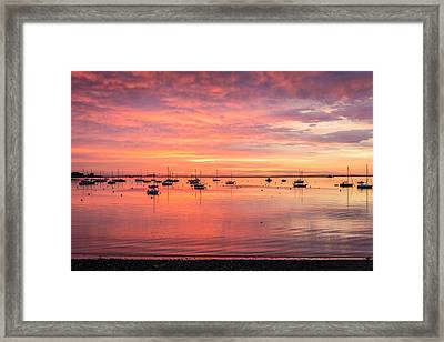 Rockland Harbor Sunrise Framed Print by Tim Sullivan