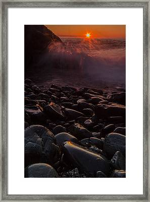 Sunrise Waves Framed Print by William Sanger