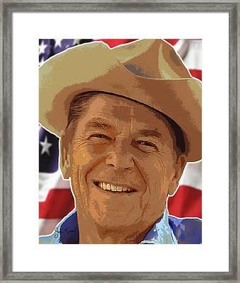 Ronald Reagan Framed Print by John Keaton