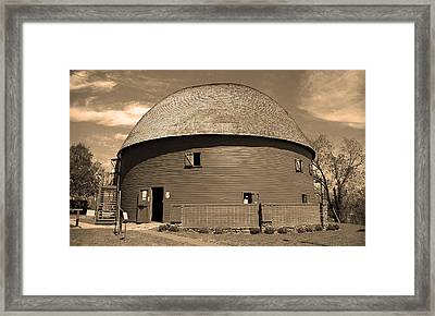 Route 66 Round Barn Framed Print by Frank Romeo