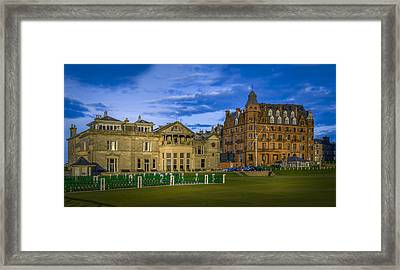 Royal And Ancient Golf Club St Andrews Framed Print by Alex Saunders