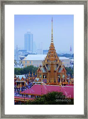 Royal Cremation Ceremony Framed Print by Buchachon Petthanya