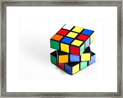 Rubiks Cube Framed Print by Photo Researchers