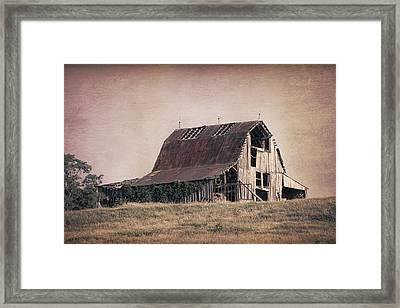 Rustic Barn Framed Print by Tom Mc Nemar