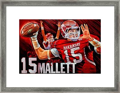 Ryan Mallett Framed Print by Jim Wetherington