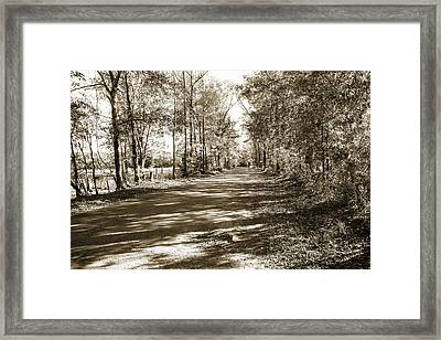 Sabine River Near Big Sandy Texas Photograph Fine Art Print 4105 Framed Print by M K  Miller
