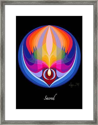 Sacred Framed Print by Angela Treat Lyon