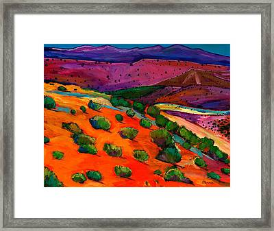 Sage Slopes Framed Print by Johnathan Harris