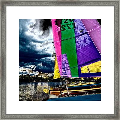 Sailing After The Storm II Framed Print by David Patterson