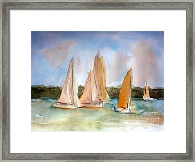 Sailing  Framed Print by Julie Lueders