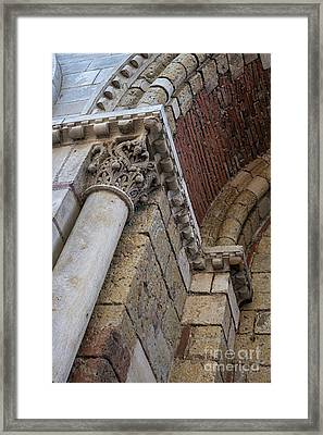 Saint Sernin Basilica Architectural Detail Framed Print by Elena Elisseeva