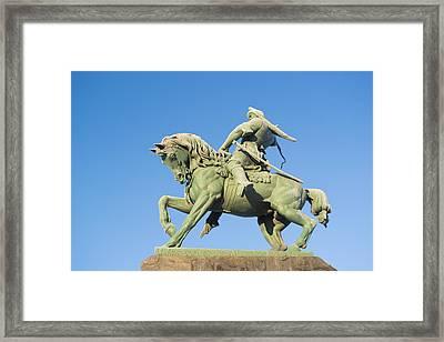 Salavat Yulaev Ufa Russian Hero Framed Print by John Williams