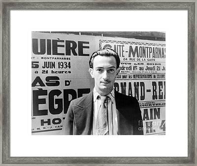 Salvador Dali (1904-1989) Framed Print by Granger