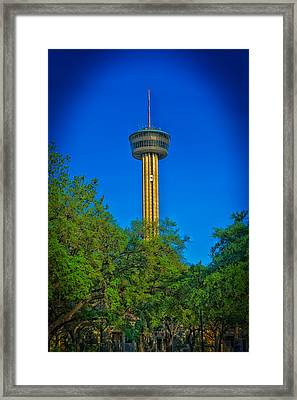 San Antonio's Tower Of The Americas Framed Print by Mountain Dreams