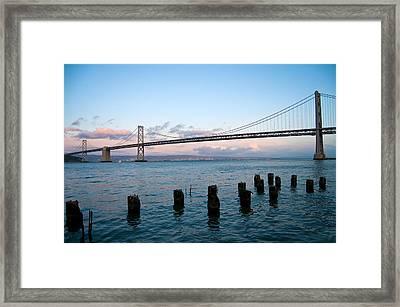 San Francisco Bay Bridge Framed Print by Mandy Wiltse