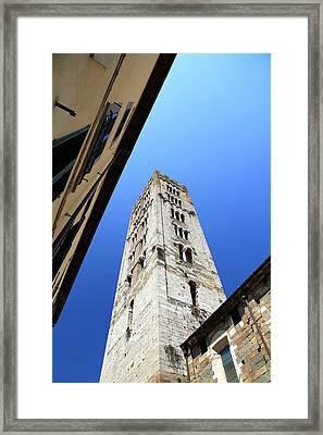 San Frediano Tower Framed Print by Valentino Visentini