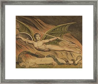 Satan Exulting Over Eve Framed Print by William Blake