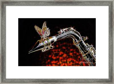 Saxophone Collection With Special Guest Framed Print by Marvin Blaine
