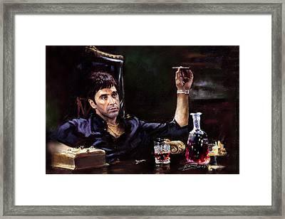 Scarface Framed Print by Ylli Haruni
