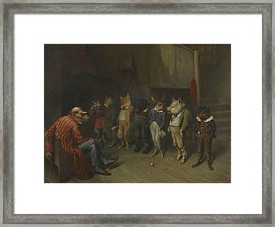 School Rules Framed Print by William Holbrook Beard